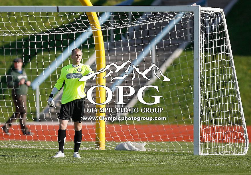 April 24, 2010: Kitsap Pumas keeper Garret Staples Vs the University of Washington.