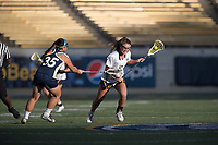 BERKELEY, CA - April 14, 2017: Cal Bears Women's Lacrosse vs. UC Davis Aggies at California Memorial Stadium.  Final Score: Cal Bears 15, UC Davis Aggies 12