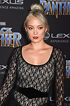 HOLLYWOOD, CA - JANUARY 29: Actor Pom Klementieff attends the premiere of Disney and Marvel's 'Black Panther' at  the Dolby Theater on January 28, 2018 in Hollywood, California.