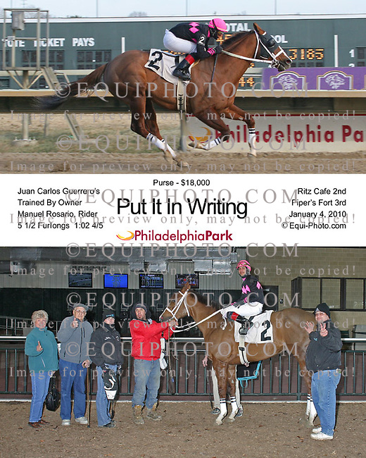 Winning photos at Philadelphia Park Racetrack.