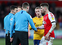 Players and officials shake hands at the end of the match <br /> <br /> Photographer Andrew Kearns/CameraSport<br /> <br /> The EFL Sky Bet League One - Fleetwood Town v Charlton Athletic - Saturday 2nd February 2019 - Highbury Stadium - Fleetwood<br /> <br /> World Copyright © 2019 CameraSport. All rights reserved. 43 Linden Ave. Countesthorpe. Leicester. England. LE8 5PG - Tel: +44 (0) 116 277 4147 - admin@camerasport.com - www.camerasport.com