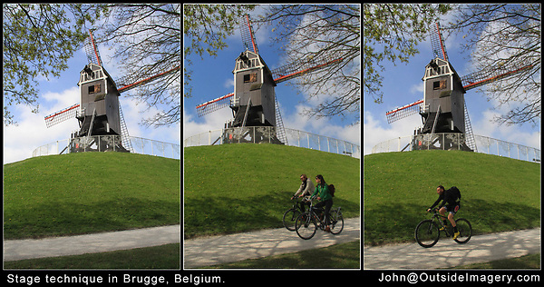 Belgium, Brugge.  Stage Technique.<br />