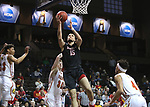 SIOUX FALLS, SD: MARCH 20: Marko Tomic #15 from Barry University lays then all up against Ferris State during their game at the 2018 Division II Men's Elite 8 Basketball Championship at the Sanford Pentagon in Sioux Falls, S.D. (Photo by Dick Carlson/Inertia)