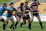 Blair Feeney makes a break with Simon Lemalu in support. Air NZ Cup week 4 game between the Counties Manukau Steelers and Northland played at Mt Smart Stadium on the 19th of August 2006. Northland won 21 - 17.