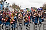 St Patricks Day Parade, Listowel: Leading  the Listowel St.Patrick's Day parade in Listowel were the Presentation Convent NS band.