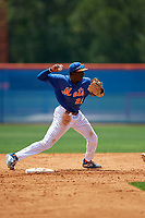 New York Mets shortstop Jaylen Palmer (22) during a Minor League Extended Spring Training game against the Miami Marlins on April 12, 2019 at First Data Field Complex in St. Lucie, Florida.  (Mike Janes/Four Seam Images)