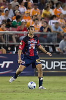Atlante FC defender Andres Carevic (20) passes the ball. Houston Dynamo defeated Atlante FC 4-0 during the group stage of the Superliga 2008 tournament at Robertson Stadium in Houston, TX on July 12, 2008.