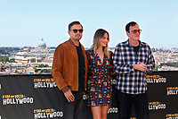 Leonardo Di Caprio, Margot Robbie and Quentin Tarantino<br /> Rome August 3rd 2019. Hotel de la Ville terrace, Photocall of the film 'Once Upon a Time in Hollywood'<br /> Foto Samantha Zucchi Insidefoto
