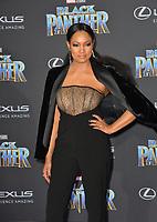 Garcelle Beauvais at the world premiere for &quot;Black Panther&quot; at the Dolby Theatre, Hollywood, USA 29 Jan. 2018<br /> Picture: Paul Smith/Featureflash/SilverHub 0208 004 5359 sales@silverhubmedia.com