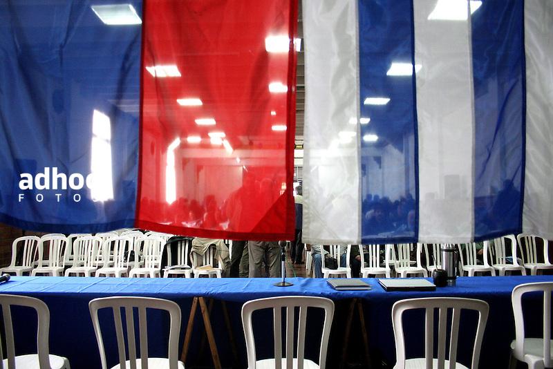 Plenario del Frente Amplio. Montevideo, 2007.<br /> URUGUAY / MONTEVIDEO / <br /> Foto: Ricardo Ant&uacute;nez / AdhocFotos<br /> www.adhocfotos.com