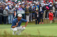 Brandon Wu (a)(USA) looks over his putt on 3 during round 4 of the 2019 US Open, Pebble Beach Golf Links, Monterrey, California, USA. 6/16/2019.<br /> Picture: Golffile | Ken Murray<br /> <br /> All photo usage must carry mandatory copyright credit (© Golffile | Ken Murray)