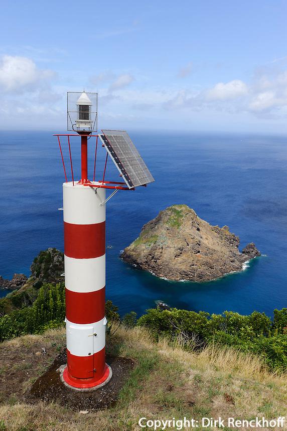 Leuchturm bei Sao Lourenco auf der Insel Santa Maria, Azoren, Portugal
