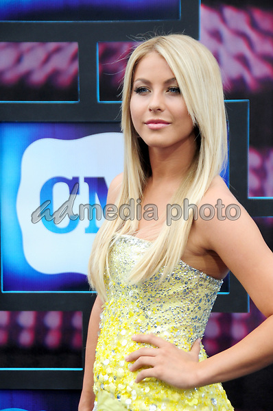 10 June 2010 - Nashville,TN - Julianne Hough on the blue carpet at the 2010 CMT Awards. Photo Credit: Mike Strasinger/ AdMedia