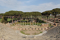 1st century BC theatre of Ostia Antica, Italy. Picture by Manuel Cohen