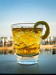 Jack Daniels on the rocks along Clinton Harbor, Long Island Sound.
