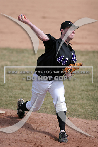 March 22nd 2009:  Pitcher Matt Jordan (44) of the Niagara University Purple Eagles during a game at Sal Maglie Stadium in Niagara Falls, NY.  Photo by:  Mike Janes/Four Seam Images