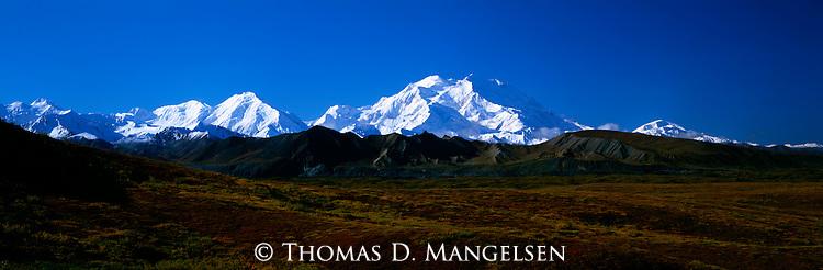 Mount McKinley and the Alaska Range in Denali National Park, Alaska.