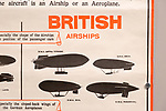 Identification poster for British army military airships of the First World War, Radstock museum, Somerset, England, UK