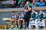 Stockholm 2013-10-16 Handboll Elitserien Hammarby IF - LUGI :  <br /> Hammarby tr&auml;nare Kalle Matsson ser fundersam ut. Hammarby 10 Josef Pujol och Hammarby 6 Adam Johansson till v&auml;nster p&aring; b&auml;nken bakom <br /> (Foto: Kenta J&ouml;nsson) Nyckelord: