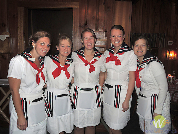 Waitresses with sailor suits