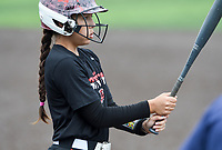 NWA Democrat-Gazette/CHARLIE KAIJO Northside High School Danessa Teague (4) prepares to bat during the 6A State Softball Tournament, Thursday, May 9, 2019 at Tiger Athletic Complex at Bentonville High School in Bentonville. Rogers Heritage High School lost to Northside High School 8-6