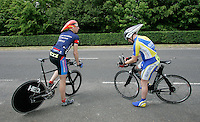 05 MAY 2007 - STETCHWORTH, UK - Competitors wait for their starts at the BUSA 25 Mile Time Trial Championships. (PHOTO (C) NIGEL FARROW)