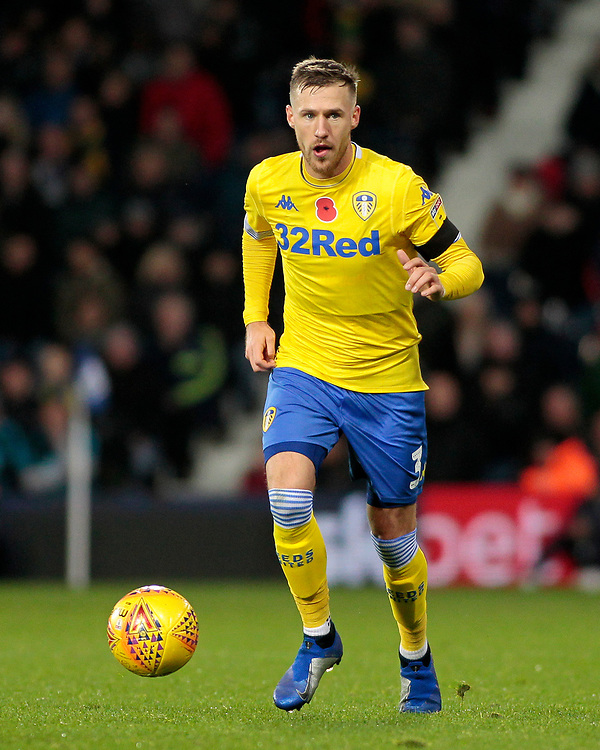 Leeds United's Barry Douglas in action<br /> <br /> Photographer David Shipman/CameraSport<br /> <br /> The EFL Sky Bet Championship - West Bromwich Albion v Leeds United - Saturday 10th November 2018 - The Hawthorns - West Bromwich<br /> <br /> World Copyright © 2018 CameraSport. All rights reserved. 43 Linden Ave. Countesthorpe. Leicester. England. LE8 5PG - Tel: +44 (0) 116 277 4147 - admin@camerasport.com - www.camerasport.com