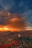 749220323v sunrise storms and heavy cloud cover over mount hayden at point imperial north rim of the grand canyon in arizona united states