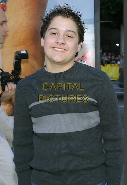 "SEAN MARQUETTE.""The Spongebob Squarepants Movie"" World Premiere held at the Grauman's Chinese Theatre. .14 November 2004 .half length, grey, gray sweater, striped.www.capitalpictures.com.sales@capitalpictures.com.© Capital Pictures."