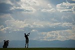 19 MAY 2016: Hugo Bernard of St. Leo University watches his tee shot during the 2016 Division II Men's Individual Golf Championship held at Green Valley Ranch Golf Club in Denver, CO. Bernard shot -13 to win the individual national title. Justin Tafoya/NCAA Photos
