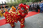 Foto: VidiPhoto<br /> <br /> RHENEN &ndash; In aanwezigheid van Chinese en Nederlandse hoogwaardigheidsbekleders, onder wie oud-premier J. P. Balkenende, hebben de Chinese ambassadeur Wu Ken en dierentuineigenaar Marcel Boekhoorn, dinsdag officieel het nieuwe reuzenpandaverblijf Pandasia (9000 vierkante meter) in Ouwehands Dierenpark in Rhenen geopend. Direct daarna mochten de twee panda&rsquo;s Xing Ya en Wu Wen hun nieuwe onderkomen verkennen. De dieren zijn op 12 april al gearriveerd maar verbleven tot dinsdag achter de schermen in quarantaine. Aan de komst van de panda&rsquo;s is zestien jaar voorbereiding aan vooraf gegaan. De bouw van Pandasia heeft 7 miljoen euro gekosten. De panda&rsquo;s blijven eigendom van de Chinese overheid. Ouwehands huurt ze voor 1 miljoen dollar per stuk per jaar. Bezoekers mogen de dieren vanaf woensdag alleen bezoeken met online tickets om parkeeroverlast te te grote drukte te voorkomen. Omdat er te weinig parkeerruimte is bij het park zijn buurgemeente niet blij met de komst van de panda&rsquo;s. Zij vrezen enorme verkeersoverlast. Foto: Chinese leeuwendans aan het begin van de openingshandeling. Rechts Marcel Boekhoorn.