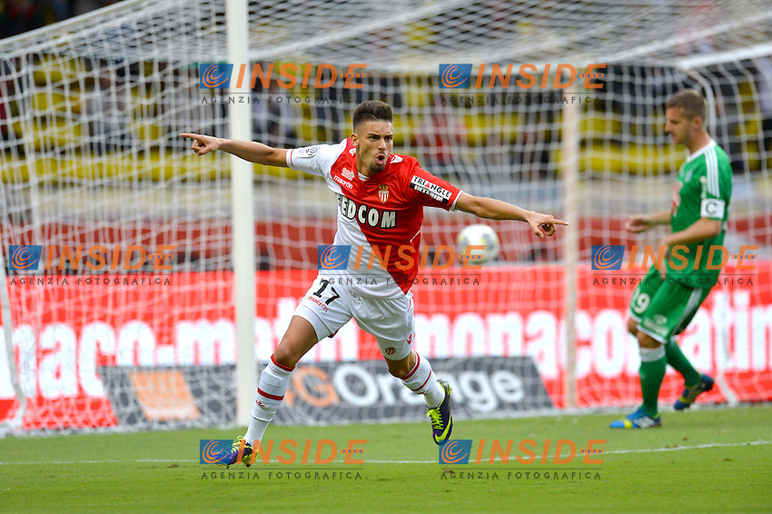 Joie But Yannick Ferreira Carrasco (AS Monaco FC) <br /> Football Calcio 2013/2014<br /> Ligue 1 Francia <br /> Monaco  - Saint Etienne<br /> Foto Panoramic / Insidefoto <br /> ITALY ONLY
