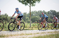 For once Oliver Naesen (BEL/AG2R-La Mondiale) & brother Lawrence Naesen (BEL/Lotto-Soudal) are riding in the same team as they both prep for the Belgian National Championships (4 days later) in a 1-time National Team Selection <br /> <br /> 72nd Halle - Ingooigem 2019 (BEL/1.1)<br /> 1 day race from Halle to Ingooigem (201km)<br /> <br /> ©kramon