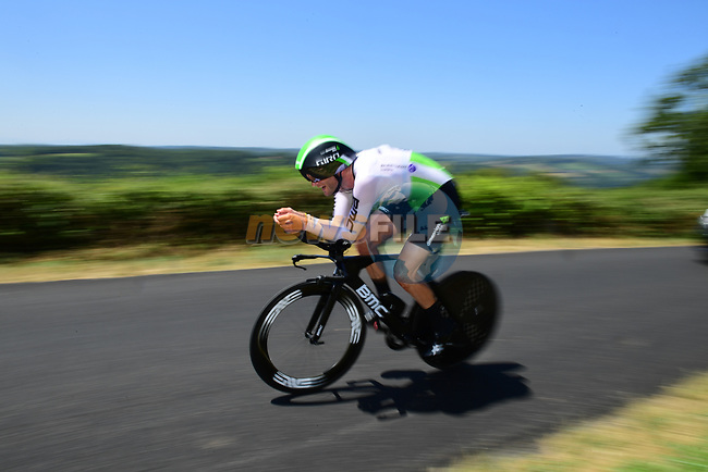 Steve Cummings (GBR) Team Dimension Data in action during Stage 13 of the 2019 Tour de France an individual time trial running 27.2km from Pau to Pau, France. 19th July 2019.<br /> Picture: ASO/Pauline Ballet | Cyclefile<br /> All photos usage must carry mandatory copyright credit (© Cyclefile | ASO/Pauline Ballet)
