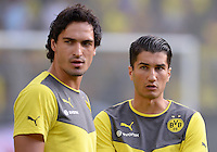 FUSSBALL   1. BUNDESLIGA   SAISON 2013/2014   SUPERCUP Borussia Dortmund - FC Bayern Muenchen           27.07.2013 Nuri Sahin (re) und Mats Hummels (li, Borussia Dortmund)