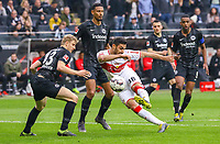 Drehschuss von Ozan Kabak (VfB Stuttgart) - 31.03.2019: Eintracht Frankfurt vs. VfB Stuttgart, Commerzbank Arena, DISCLAIMER: DFL regulations prohibit any use of photographs as image sequences and/or quasi-video.