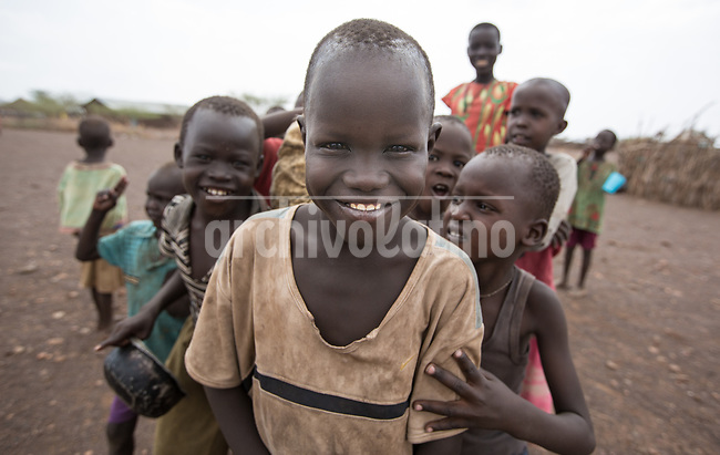 Kids in Kakuma refugee camp in Kenya.Kakuma refugee camp in North of Kenya. Kakuma is the site of a UNHCR refugee camp, established in 1991. The population of Kakuma town was 60,000 in 2014, having grown from around 8,000 in 1990. In 1991, the camp was established to host the 12,000 unaccompanied minors who had fled the war in Sudan and came walking from camps in Ethiopia.
