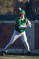 March 19, 2010 - Josh Sale #50 of Bishop Blanchet High School times the pitcher from the on-deck circle during a game against West Seattle High School at Lower Woodland Park Field in Seattle, Washington.