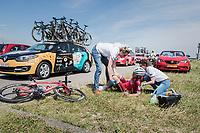 Marco Mathis (DEU/Katusha-Alpecin) crashed<br /> <br /> Ster ZLM Tour (2.1)<br /> Stage 2: Tholen &gt; Hoogerheide (186.8km)