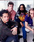 Soundgarden (L-R: Chris Cornell, Ben Shepherd, Kim Thayil, Matt Cameron) portraits photographed at the Big Day Out in Sydney Australia - January 1997.  <br /> Photo by: Tony Mott / IconiccPix