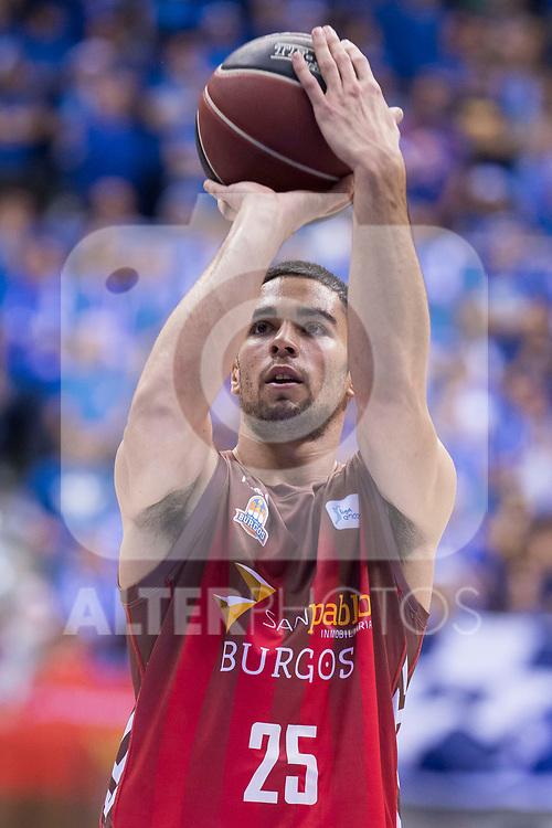 San Pablo Burgos Alex Lopez during Liga Endesa match between San Pablo Burgos and Gipuzkoa Basket at Coliseum Burgos in Burgos, Spain. December 30, 2017. (ALTERPHOTOS/Borja B.Hojas)