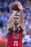 San Pablo Burgos Alex Lopez during Liga Endesa match between San Pablo Burgos and Gipuzkoa Basket at Coliseum Burgos in Burgos, Spain. December 30, 2017. (ALTERPHOTOS/Borja B.Hojas)