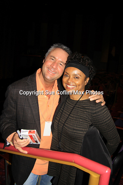 """- A Tribute to Pine Valley - All My Children's Debbi Morgan """"Angie"""" poses with Mike Gold on February 16, 2013 with fans for Q&A, autographs, photos at Foxwoods Resorts Casino in Mashantucket, CT and February 17, 2013 at Valley Forge Casino Resort in King of Prussia, PA. (Photo by Sue Coflin/Max Photos)"""