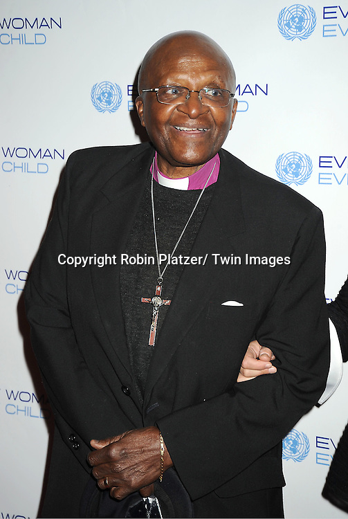 Bishop Desmond Tutu attends the Every Woman, Every Child MDG Reception on September 20, 2011 at The Grand Hyatt Hotel in New York City.