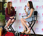 "COCONUT GROVE, FL - MARCH 30: Michele Gillen and Cecilia Peck attend the Women's International Film Festival 2014 - Brunch and the screening of ""Brave Miss World"" also received the awards for the best films of the festival on March 30, 2014 in Coconut Grove, Florida. (Photo by Johnny Louis/jlnphotography.com)"