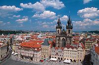 Altstädter Ring (Staromestske Namesti), Blick vom Altstaedter Rathaus, Prag, Tschechien, Unesco-Weltkulturerbe