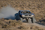 August 19, 2011:  Greg Nunley, of Tulare, California, races toward the pits near Fallon, Nevada  in Best in the Desert - Las Vegas to Reno Off Road Race on Friday afternoon.  Nunley finished 9th overall.