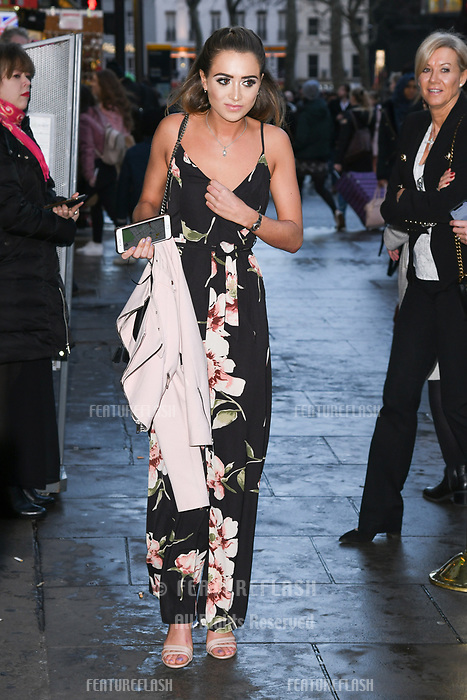 Georgia Harrison arriving for James Ingham's Jog on to Cancer 2018 at Cafe de Paris, London, UK. <br /> 04 April  2018<br /> Picture: Steve Vas/Featureflash/SilverHub 0208 004 5359 sales@silverhubmedia.com