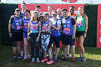 Bakers Dozen (GBBO contestants)<br /> at the start of the 2018 London Marathon, Greenwich, London<br /> <br /> ©Ash Knotek  D3397  22/04/2018