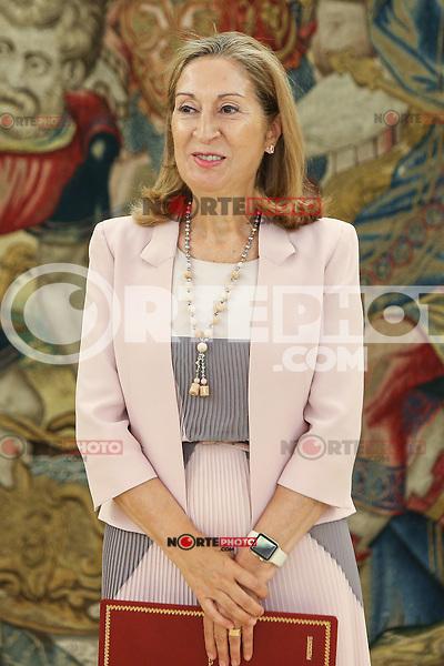 Spanish Ana Maria Pastor Julian, president of the Congress of Deputies during the audience at Zarzuela palace in Madrid. September 01, 2016. (ALTERPHOTOS/Rodrigo Jimenez) /NORTEPHOTO